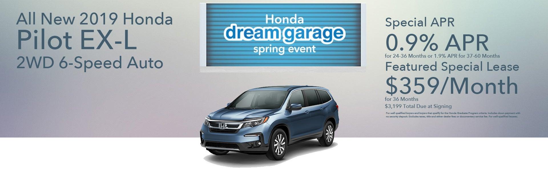 Disclaimer 2019 Honda Pilot. CarProUsa Honda Dealer